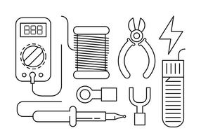 Free Linear Soldering Vector Elements