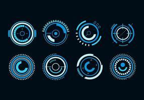 Freie Kreis Hud Futuristic Vector