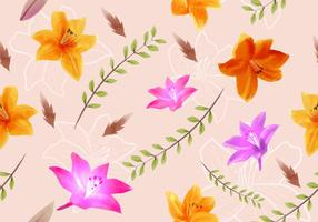 Rhododendron Seamless Pattern