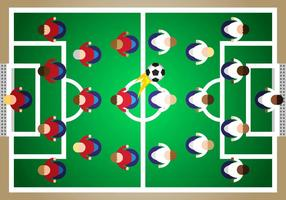 Subbuteo Soccer Illustration Vector