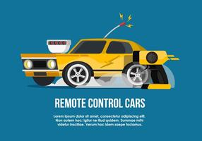 Illustration RC Car Flat Vector