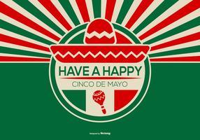 Ilustração retro de Cinco de Mayo do estilo