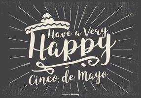 Ilustração tipográfica do Cinco de Mayo