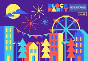 Block Party Illustration Vector