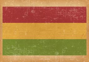 Grunge Flag of Bolivia vector