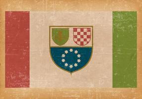 Drapeau grunge de la Fédération de Bosnie-Herzégovine
