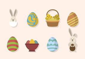 Vecteurs de Pâques plat