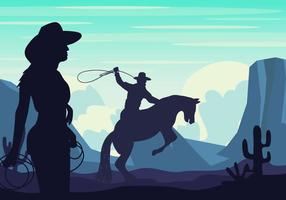 Gaucho Silhouette Background vector