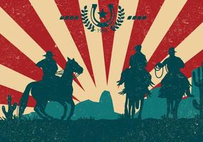 Gaucho Silhouette With Vintage Style vector