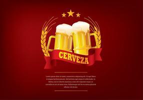 Saludos cerveja libres del vector