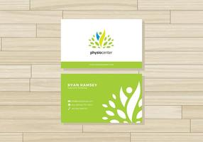 Physiotherapist Name Card Free Vector