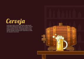 Cerveja barril vector gratuito