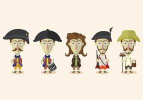 Colonial People Vector Set