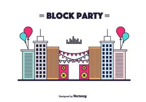 Background Block Party Vector