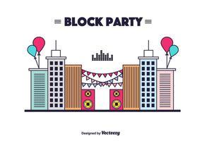 Block Party Vector Bakgrund