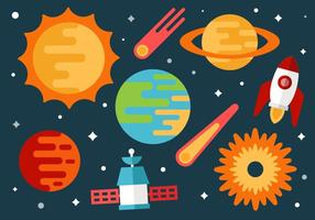 Ledigt utrymme och universum Vector Bakgrund