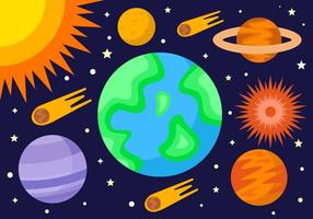 Vector Exploração Espaço Livre