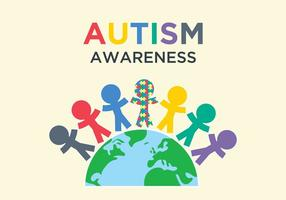 Autism Awareness Illustration vector