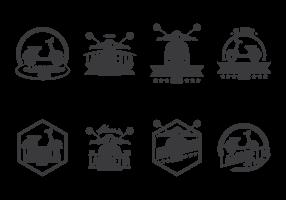 Lambretta etiqueta el vector