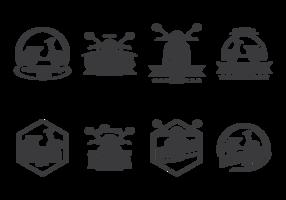 Lambretta etiketter Vector