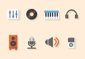 Vectores de música plana