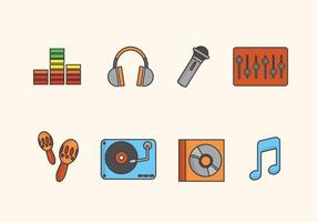 Flache Musik-Vektoren