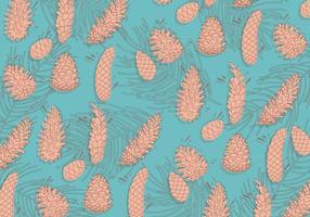 Conos del pino vector patrón