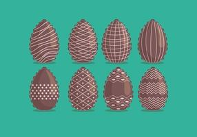 Chocolate Vector Easter Eggs
