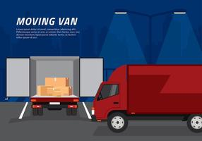 Moving Van Loading Free Vector