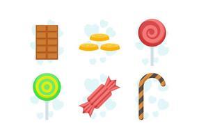 Vettori deliziosi dolci e caramelle
