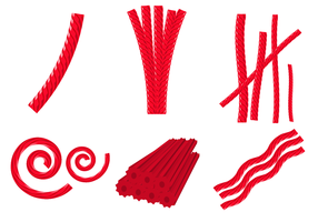 Red Licorice Candy Vector