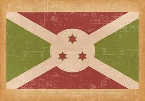 Falg of Burundi on Grunge Background