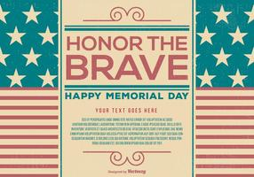 Template Vintage Memorial Day