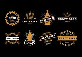 Free Beer Badge Vector Collection