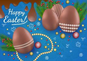 Decoration Of Chocolate Easter Egg vector