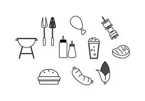 Free Barbecue  Line Icon Vector