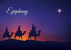 Epiphany Night Silhouette Free Vector
