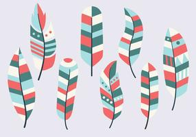 Gratis Feather Vintage Collection Vector