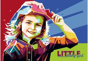 Little Baby Girl vector WPAP