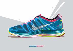 Zapatilla de deporte Nike vector de Popart