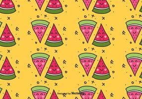 Watermelon Doodle Pattern vector