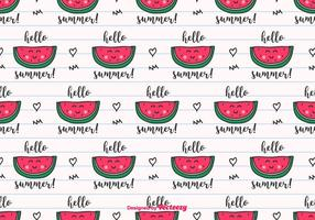 Hello Summer Vector Background