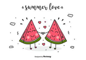 Summer Love Background Vector