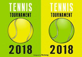 Tennis Tournament Retro Vector Affischer