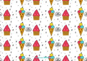 Cartoon Ice Cream Pattern vector