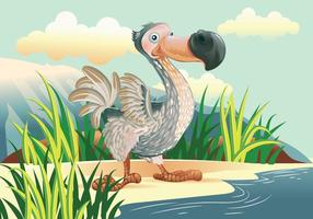 Dodo-Vogel-Cartoon-Figur Vektor