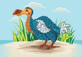 Söt Dodo Bird Illustration