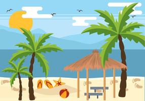 Palm Beach Holiday Vector