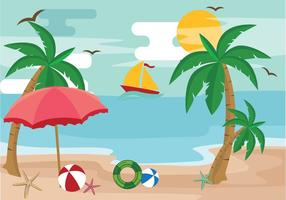 Palm Tree Sommartid Vacation Vector