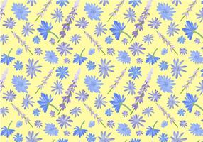 Gratis Wildflowers Pattern vectoren